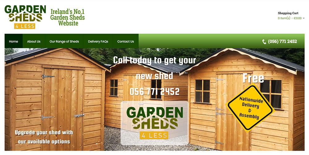 Garden Sheds 4 Less Ireland Wooden Garden Sheds Dublin Garden